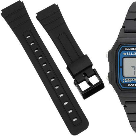 e7df0e72be5 Pulseira Compatível para Relógio Casio F105 de Silicone Preta - Oficina dos  relogios