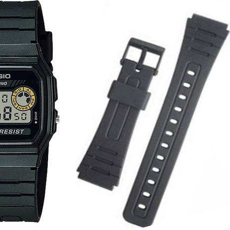 2be0addbc0b Pulseira Compatível para Relógio Casio F94 de Silicone Preta - Oficina dos  relógios