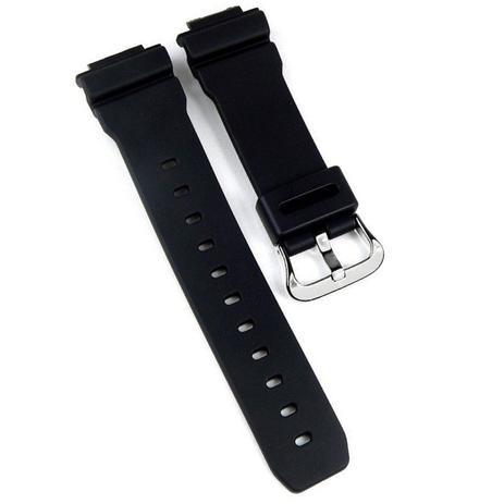 c4ae9d8fc96 Pulseira Compatível para Relógio Casio G-Shock DW 9051 de Silicone Preta -  Oficina dos relogios