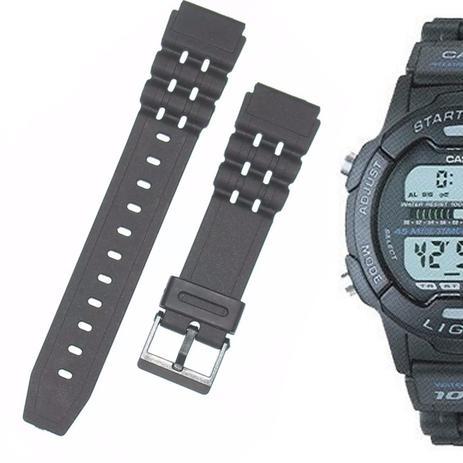 f51e4ad1ea0 Pulseira Compatível para Relógio Casio w 731h de Silicone Preta - Oficina  dos relogios