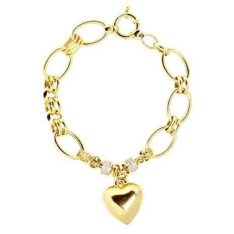 3f3e4bb25c0 Pulseira Coração Ouro 18k Zircônias - cod.5076 - Retran joias ...