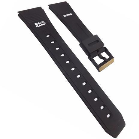 891b288e92f Pulseira Data Bank para Relógio Casio 22mm de Silicone Preta - Oficina dos  relogios