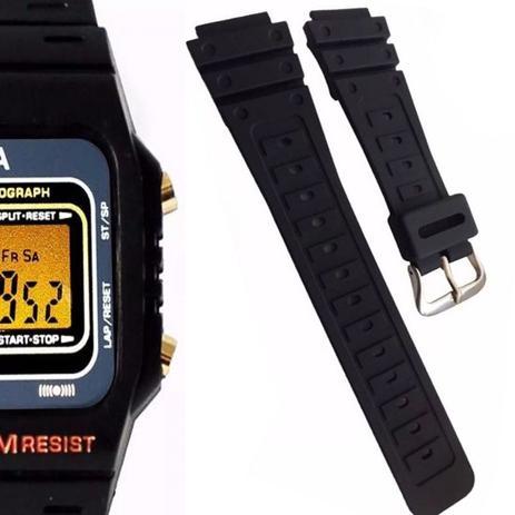 24e06b35b20 Pulseira de Borracha para Relógio Aqua Aq37 Preta - Oficina dos relógios