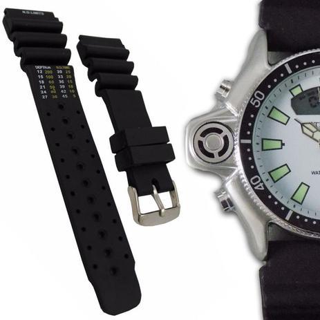 ef9378dc5df Pulseira de Borracha para Relógio Atlantis Aqualand 24mm - Oficina dos  relógios