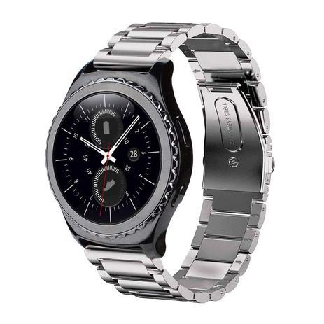 Imagem de Pulseira de Metal Inox Prata para Relógio Samsung Galaxy Gear S2 Classic