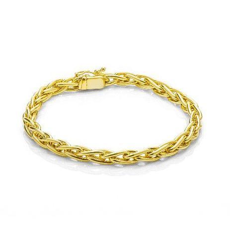 0fc2a90185d27 Pulseira de Ouro 18k com Malha Palmeira com 20cm pu03707 - Joiasgold ...