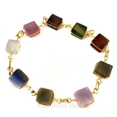 c12f502ec28 Pulseira de Pedras Coloridas Mistas - Mandala de luz - Pulseira e ...