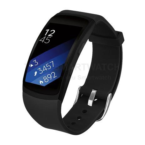 Imagem de Pulseira de Silicone Preto para Relógio Samsung Gear Fit 2