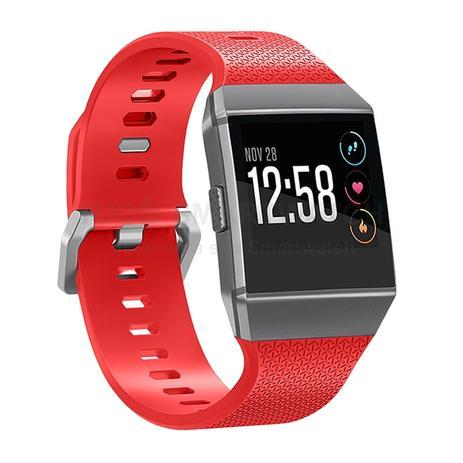 Imagem de Pulseira de Silicone Vermelho para Relógio Fitbit Ionic
