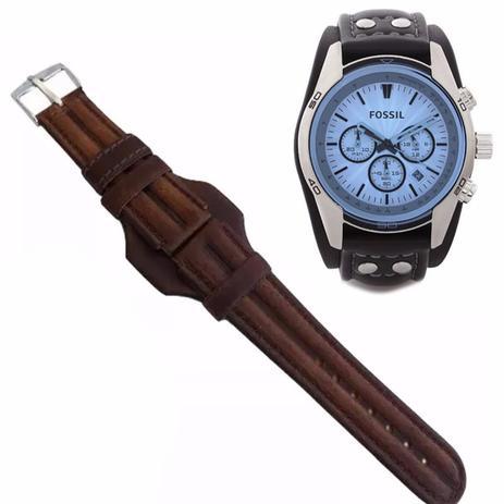 fca14dc6827 Pulseira em Couro Compatível com Relógio Fossil Ch2564 20mm Tm Marrom -  Oficina dos relógios