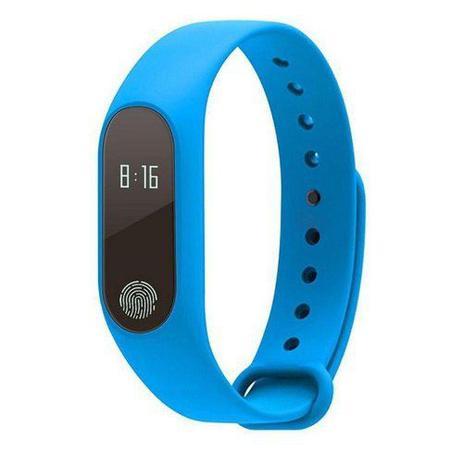 Imagem de Pulseira Inteligente Sport M2 Monitor Cardiaco Azul