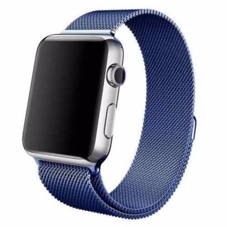 96abe34a31f Pulseira Kopeck Magnética Azul Apple Watch 42mm Série 1 2 3 - Universal