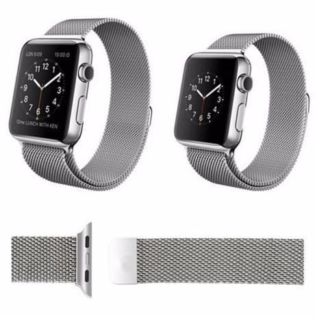 b80401d1f53 Pulseira Kopeck Magnética Prata Apple Watch 42mm Série 1 2 3 - Universal