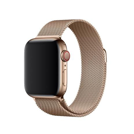 2f8e749150b Pulseira Milanese Aço para APPLE WATCH - 42 44mm - Ouro Champagne - Omnii  fast