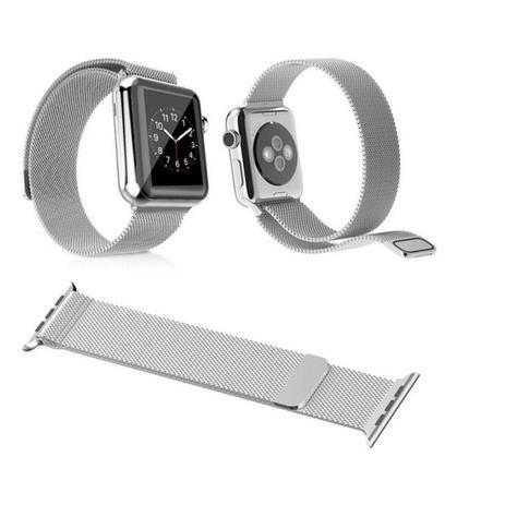 33c2104830e Pulseira milanese loop fecho em imã silver watch 42mm serie 1