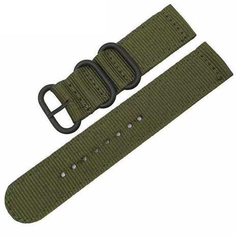 32cc8acccd2 Pulseira Nylon Militar Nato Zulu 03 Argolas Pretas - Pulseira e ...