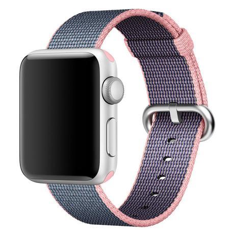 3ca256d3343 Pulseira Nylon Sport Loop para Apple Watch 42 44 mm - Cinza e Rosa - Omnii  fast