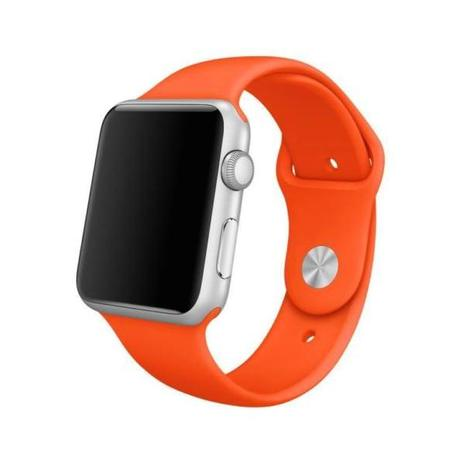 2870870e549 Pulseira Sport Tamanho Feminino Laranja Compativel com apple watch de 38mm  e 40mm - Iphone