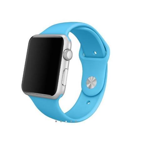 a9edcc4ad28 Pulseira Sport Tamanho Masculino Azul Compativel com apple watch de 42mm e  44mm - Iphone