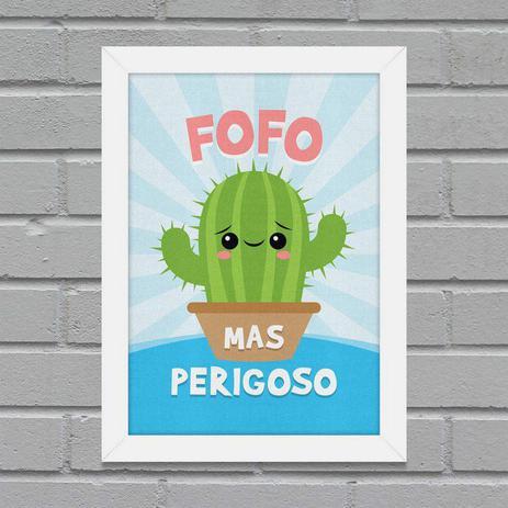 ac5facb0b54 Quadro A4 Cacto Fofo mas Perigoso - Yaay - Quadros - Magazine Luiza