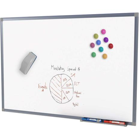 Imagem de Quadro Aviso Magnetico Branco Mold.aluminio 150X120CM