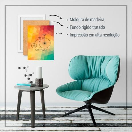Imagem de Quadro com moldura arte abstrata aquarela pb preto branco