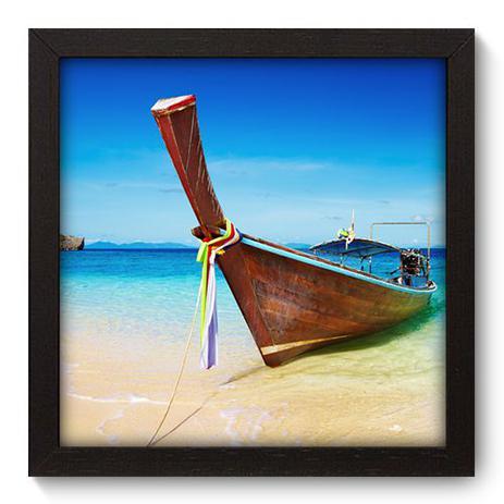 Imagem de Quadro Decorativo - Barco - 22cm x 22cm - 022qnpap