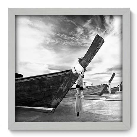 Imagem de Quadro Decorativo - Barco - 33cm x 33cm - 021qnpbb