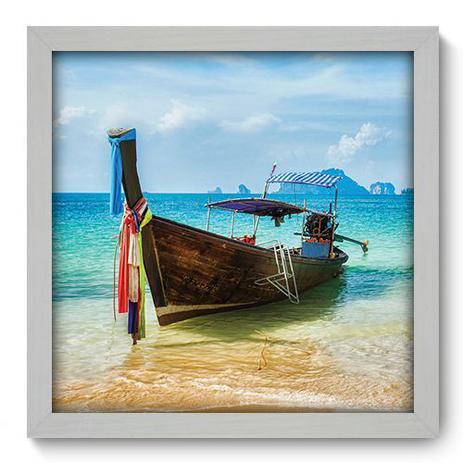 Imagem de Quadro Decorativo - Barco - 33cm x 33cm - 036qdpb