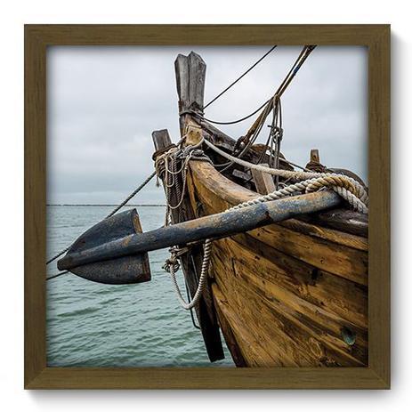 Imagem de Quadro Decorativo - Barco - 33cm x 33cm - 049qdkm