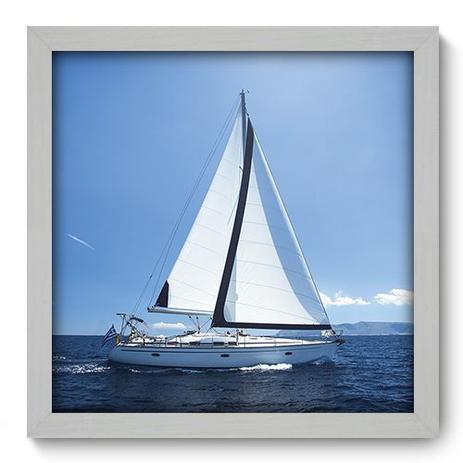 Imagem de Quadro Decorativo - Barco - 33cm x 33cm - 051qdkb