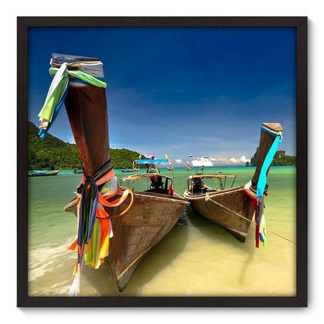 Imagem de Quadro Decorativo - Barco - 70cm x 70cm - 023qnpdp