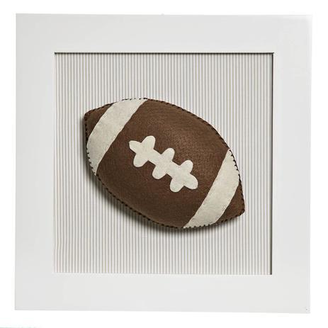 Quadro Decorativo Bola Futebol Americano Quarto Bebê Infantil Menino -  Potinho de mel 6c9c681adb101