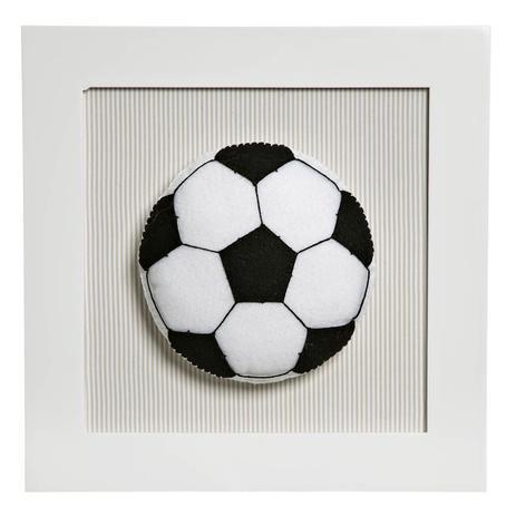 Quadro Decorativo Bola Futebol Quarto Bebê Infantil Menino - Potinho de mel 2770e10fff3e0