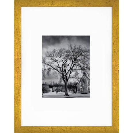 37b72fc3b Quadro Decorativo com Moldura Dourada Árvore Paisagem de Inverno 30x40cm -  Decore pronto