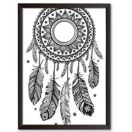 b9453cf2a1 Quadro Decorativo - Filtro dos Sonhos Maori - 34x24cm - Cool art ...