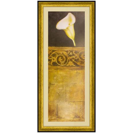 Quadro Decorativo Flor Copo De Leite Ii 45x105cm Decore Pronto