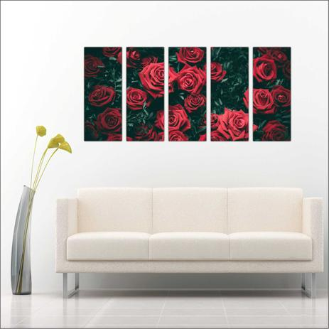 a5ac5fff2 Quadro Decorativo Flores Vermelhas Decorar Salas Interiores - Vital quadros  do brasil