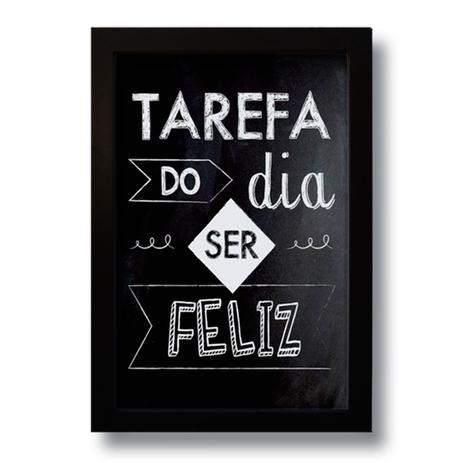 Quadro Decorativo Frase Motivacional Tarefa Do Dia 33x43 Cm Art Print