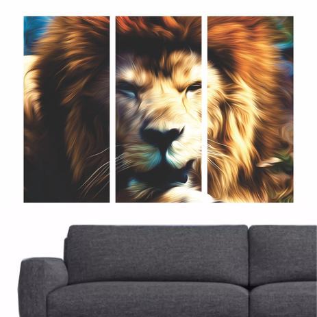 9c6104ab4 Quadro decorativo Leão Moderno Animais Tela em Tecido - Quadros mais ...