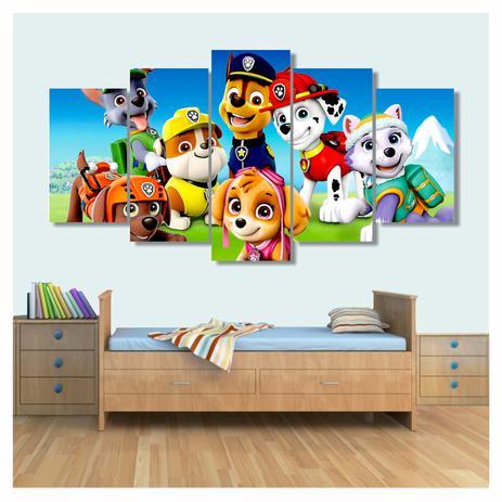 Quadro Decorativo Patrulha Canina 1x 130x63 Em Tecido Wall Frame