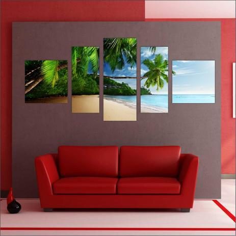 7992f38c2 Quadro Decorativo Praia Mar Sol Pedras Salas Decorações Mosaico - Vital