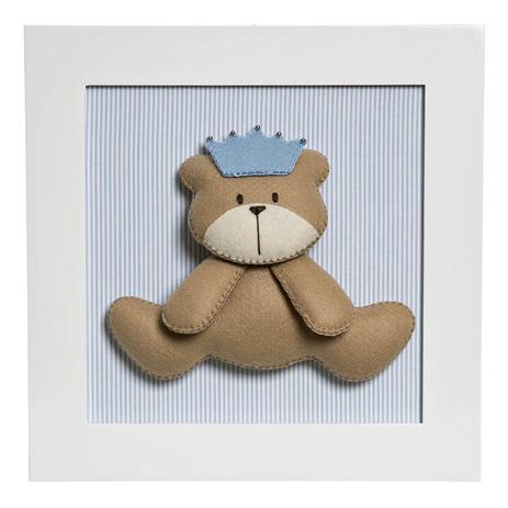 Quadro Decorativo Urso Principe Quarto Bebe Infantil Menino