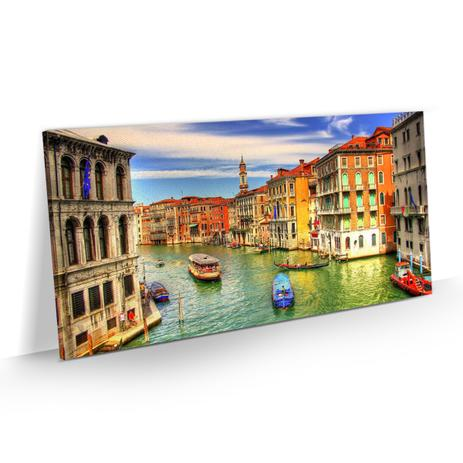 621c5de51f9c2 Quadro Decorativo Veneza Itália Colorido Paisagem 100x50 - Bimper ...
