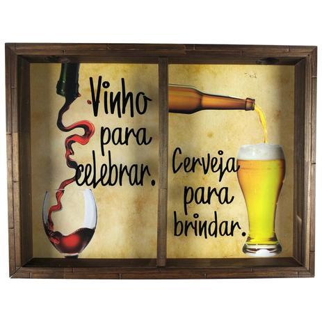 Quadro duplo porta rolhas vinhos e tampinha cerveja for Mesa sonetto cristal 4 cad cristal rustic bege