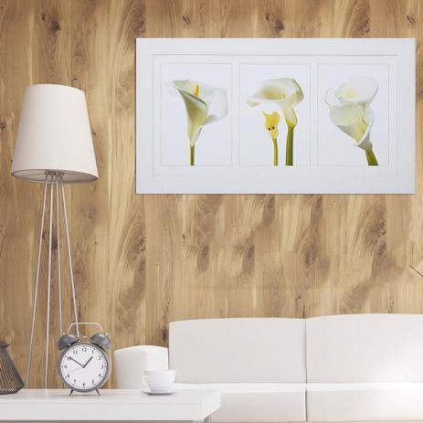 Quadro Flor Copo De Leite 110x60cm Decore Pronto