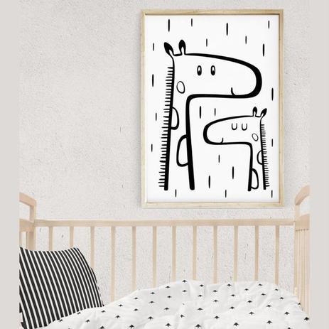 Quadro Infantil Decoracao Quarto Desenho Girafas Mae E Filho