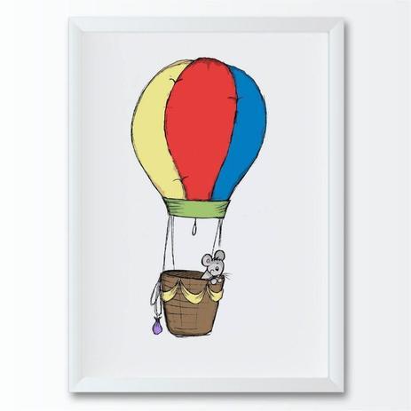 Quadro Infantil Desenho Balao Conspecto Quadro Decorativo