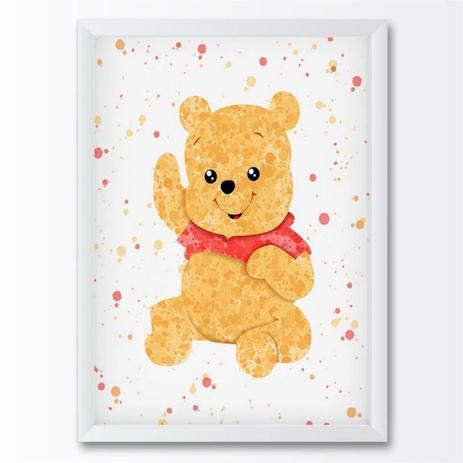 Quadro Infantil Desenho Ursinho Pooh Conspecto Quadro