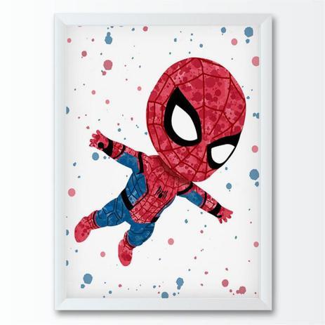 Quadro Infantil Marvel Desenho Homem Aranha Conspecto Quadro